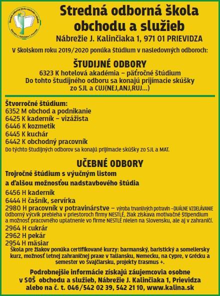 Prijímacia skúška do študijných odborov bude z profilových predmetov  odbor  hotelová akadémia – slovenský jazyk a literatúra (SJL) a cudzí jazyk  3e0aa151042